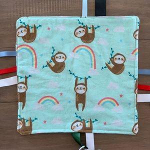 Sloth Baby Tag Sensory Blanket Baby Blanket